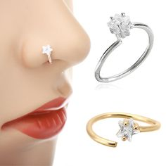 nose ring Get the best deal for Women Nose Piercing Ring from the largest online selection Lady Time Club. Shop for the best women products here. Unique Nose Rings, Gold Nose Rings, Silver Nose Ring, Nose Piercing Price, Piercing Ring, Piercing Chart, Nose Earrings, Nose Ring Jewelry, Gold Jewellery