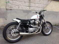 Latest MOD moto build done! Harley Sportster 1200 flat tracker.