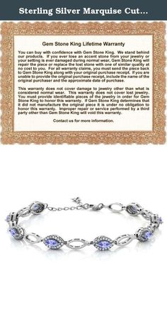 Sterling Silver Marquise Cut Genuine Tanzanite Women's Tennis Bracelet (3.26 cttw, 7 inches + 1 inch Extender). Beautiful and brilliant pair our Tanzanite bracelet with career or weekend outfits. Featuring a radiant flawless 925 Sterling Silver finish. This item is perfect for any event and holiday. The secure fit promises carefree wear and stability, while the appearance ensures that this bracelet will be the center of attention on any ensemble. As always with all of our products this…