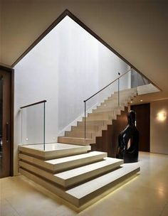 There is a real quality about this space and the flow of the stairs into the hallway