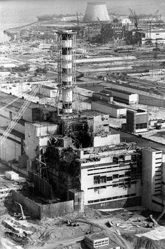 Rare full-resolution photo of Chernobyl's destroyed nuclear reactor building. 30 years ago next week. [2770x4188]