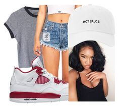"""""""4's"""" by theyenvy-jorii ❤ liked on Polyvore featuring Poetic Justice"""