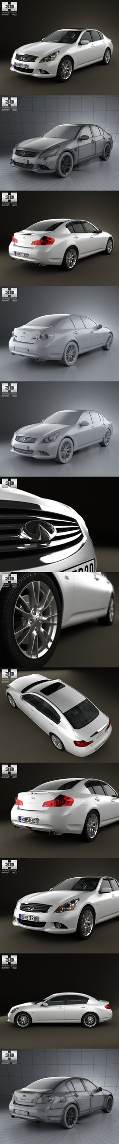 Infiniti G37 Sedan 2011. 3D Vehicles
