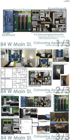 Interior Design Project Boards | Michigan State University Adaptive Reuse  Project | Co Housing Apartments