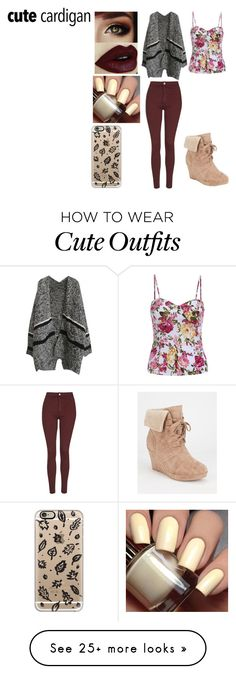 """Fall Outfit"" by owlbirdy on Polyvore featuring Report, Topshop and Casetify"