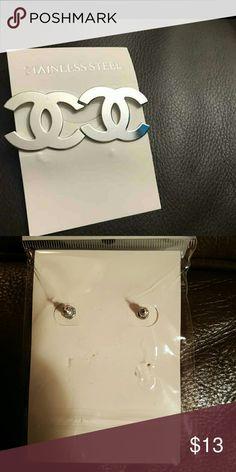 """Fashion Earrings New in package. Fashion Earrings 1"""" X 1"""".  Stainless Steel. Jewelry Earrings"""