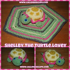 Shellby the Turtle Lovey ~ $4.50pattern ᛡ
