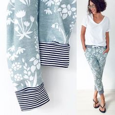 """[Werbung] , Here comes again my favorite pants cut, the jogging pants from the @ kibadoo book """"Everything Jersey-soft and cozy"""". This time… - für mich - Sewing Pants, Sewing Clothes, Diy Clothes, Clothes For Women, Clothing Patterns, Sewing Patterns, Diy Vetement, Diy Mode, Learn To Sew"""