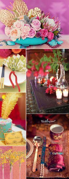 Decoración exótica y original para bodas. Exotic wedding decoration.