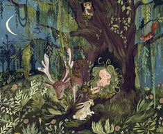 Illustration by Emily Hughes from 'Wild,' one of the best children's books of the year Art And Illustration, Illustration Children, Best Children Books, Childrens Books, Dragons, Inner Child, Les Oeuvres, Fantasy Art, Book Art