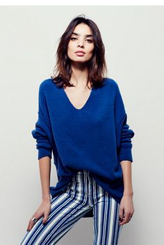Free People Softly Vee Sweater at Free People Clothing Boutique