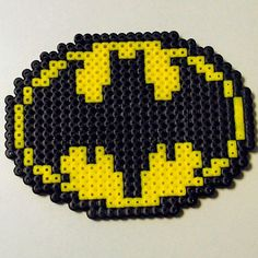 Batman perler beads by The Lonely Phantump