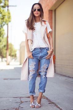 Aimee Song Cuffed Jeans