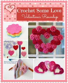 Roundup of free Valentine's Day crochet patterns.
