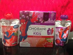 The Chobani Kids pouches are great for on the go. I liked them but found them a little hard to get out of the tube at the top because the yogurt is thick and creamy. Chobani Greek Yogurt, 4 Kids, Pouches, Tube, Strawberry, Candy, Strawberry Fruit, Sweets, Strawberries
