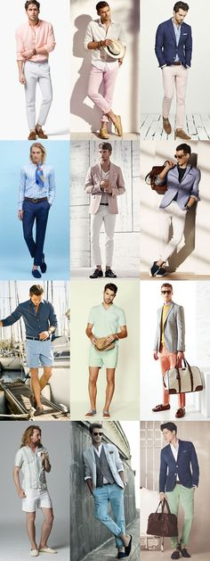 Men's Riviera Style Outfit Inspiration Lookbook - Tailored Shorts & Chinos