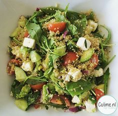 nl – Food And Drink Pureed Food Recipes, Salad Recipes, Vegetarian Recipes, Salade Healthy, Salade Caprese, Healthy Recepies, How To Cook Quinoa, Clean Eating Recipes, Healthy Cooking