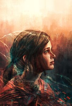 This is beautiful fan artwork...!!!!! Ellie   The Last Of Us •Alice X. Zhang