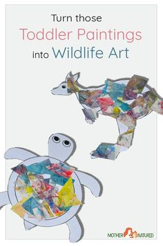 Toddler Paintings into wildlife Art Creative Activities For Kids, Creative Arts And Crafts, Nature Activities, Fun Activities For Kids, Arts And Crafts Projects, Literacy Activities, Creative Kids, Fun Crafts, Crafts For Kids