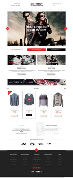DW Trendy is a responsive WordPress theme for eCommerce sites featuring WooCommerce. This theme has a clean and classy layout and can be easily tuned into any type Ecommerce Web Design, Web Ui Design, Site Design, E Commerce, Fashion Web Design, Mobile Web Design, Marketing Digital, Mobile Marketing, Marketing Ideas