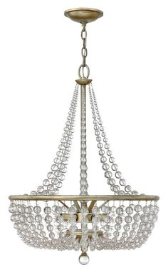 Fredrick Ramond FR43754 4 Light 1 Tier Empire Chandelier from the Caspia Collect Silver Leaf Indoor Lighting Chandeliers