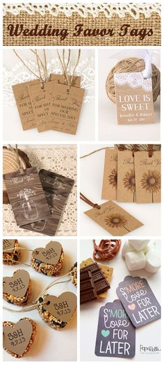beautiful rustic wedding favor tags ideas