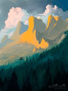 Firewatch, Roberto Nieto on ArtStation at https://www.artstation.com/artwork/aDy5J
