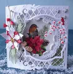 Best 11 What beautiful work! Christmas Cards 2018, Homemade Christmas Cards, Vintage Christmas Cards, Xmas Cards, Holiday Cards, Christmas Crafts, 3d Cards, Cool Cards, Becca Feeken Cards