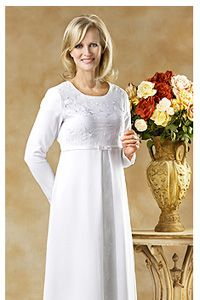 """LDS Temple Dress 1068-WE  - MormonFavorites.com  """"I cannot believe how many LDS resources I found... It's about time someone thought of this!""""   - MormonFavorites.com"""