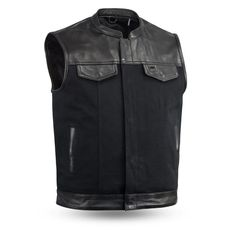 The gorgeous jacket will have you looking stylish, the preacher collar on this jacket is just amazing. Concealed carry pockets, interior cell phone pocket, and a total of four pockets in front keep your stuff safe and secure. Why miss out, here's your chance to really stand out! #motorcyclevest #bikervest #vest #leathervest #gears
