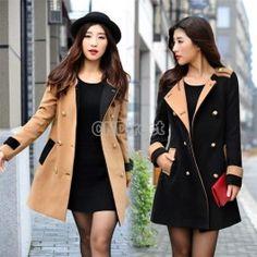 Women Fashion Slim Jackets Double-Breasted Long sleeve Coat Outwear Overcoat http://www.cndirect.com/women-fashion-slim-jackets-double-breasted-long-sleeve-coat-outwear-overcoat-new-arrival.html