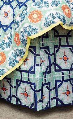 Zigon Tilework Bedskirt #anthroregistry