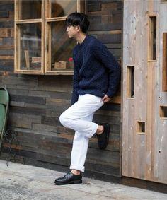 冬こそ活用。ホワイトデニムの選び方と着こなし方   メンズファッションマガジン +CLAP Men