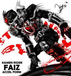 Kamen Rider Faiz Axel Form by Kyo-Agito