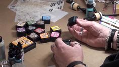 Tim Holtz demos Distress Ink Minis and Mini Blending Tool at CHA 2014