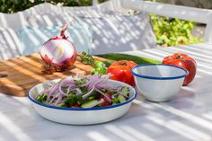 Making a Greek Salad Odyssey Poros Greece