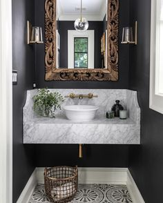 Country Home Decor 7 Ways to Jazz Up Your Powder Room.Country Home Decor 7 Ways to Jazz Up Your Powder Room Bad Inspiration, Bathroom Inspiration, Big Bathrooms, Beautiful Bathrooms, Bathrooms Decor, Bathroom Renovations, Bath Design, Home Design, Sink Design