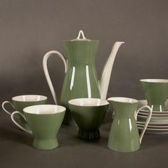 Porzellan Kaffeeservice. Rosenthal Form 2000. Raymond Loewy.