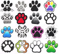 Cool paw-print tattoo designs - love the tribal print and the one with the cat nose
