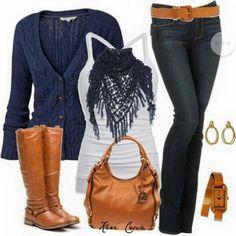 Outfit Jean y cueros en miel