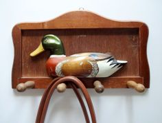 Vintage Mallard Duck Wall Mounted Coat Rack by WylieOwlVintage, $24.00