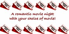 Love coupon for a romantic movie night together.