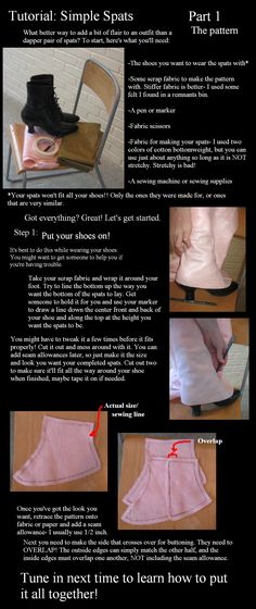 Spats tutorial part 1- pattern by =Animus-Panthera on deviantART