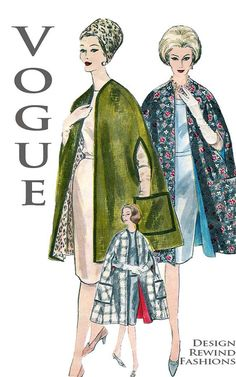 1960s Vintage Vogue 5176 Reversible by DesignRewindFashions, $30.00
