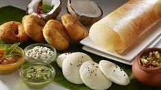 South Indian Food - Idli, vada, dosa