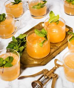 Mother's Day Luncheon | This crowd-pleasing cocktail is the perfect option for your Mother's Day table. It's refreshing, smooth, and not overly sweet, and it will taste delicious on a warm spring day. To make it extra-special, freeze ginger beer in ice cube trays and serve with the punch. #mothersdayrecipes #realsimple #mothersdayideas #giftideas Classic Vodka Cocktails, Festive Cocktails, Summer Cocktails, Thanksgiving Cocktails, Punch Recipes, Drink Recipes, Fresh Lime Juice, Party Drinks, Recipe Collection