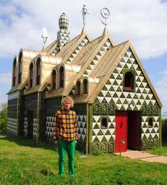 Grayson Perry, A House for Essex Essex Coast, Grayson Perry, Tile Design, Architecture Design, Exterior, The Originals, House, Aboriginal Art, Google Search