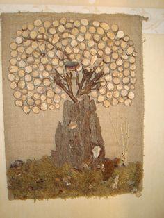 Baum aus Naturmaterial