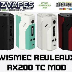 #Wismec #Reuleaux RX200 TC #Mod in 4 Fresh Colors