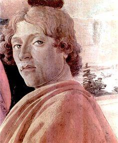"""Sandro Botticelli (Florencia, 1451 – 1510) fue un pintor cuatrocentista italiano. Bajo el mecenazgo de Lorenzo de Médici, fue considerado por Giorgio Vasari como una """"edad de oro"""".un pensamiento que  encabezaba su Vita de Botticelli, su reputación póstuma disminuyó, siendo recuperada en el siglo XIX; desde entonces, su obra se ha considerado representativa del primer Renacimiento, y El nacimiento de Venus y La primavera son, actualmente, dos de las obras maestras florentinas más conocidas."""